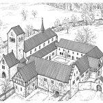 """Stich des Kloster Sulzburg, © PEDA-Kunstführer """"Sulzburg St. Cyriak"""""""