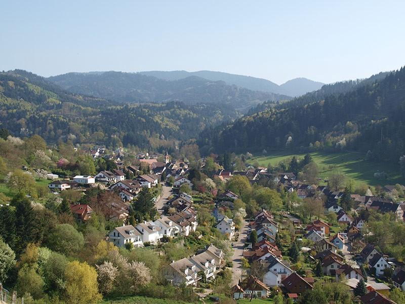 Sulzburg vom Castellberg aus gesehen