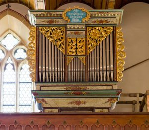 Blick auf die Fichslin-Orgel